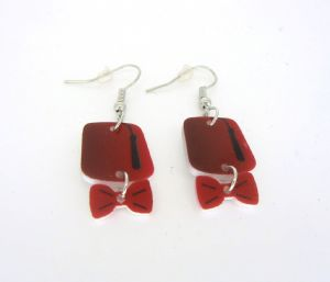 Doctor Who Fez and bow-tie earrings